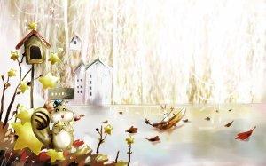 Картинки на рабочий стол природа с домами